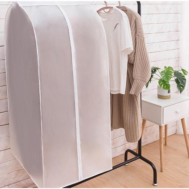 Garment Clothes Cover Protector Dustproof Storage Waterproof Suit Coat Clothes Dust Storage Bag Hanging Organizer Wardrobe 1