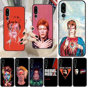 Rock David Bowie Phone case For Huawei P Mate P10 P20 P30 P40 10 20 Smart Z Pro Lite 2019 black luxury funda tpu Etui painting image