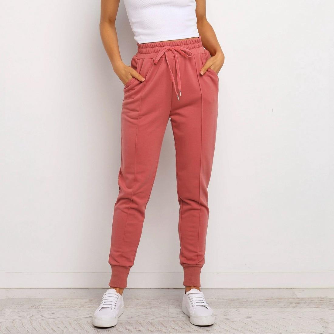 Весна 2021, тренировочные брюки для фитнеса, женские спортивные брюки, женские спортивные брюки, Повседневная Женская свободная спортивная о...