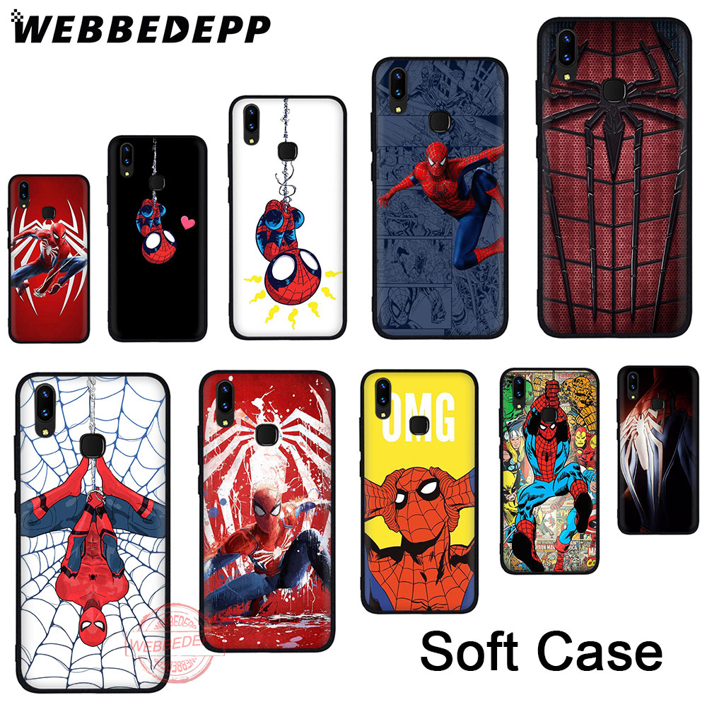 WEBBEDEPP 176N <font><b>Marvel</b></font> SpiderMan Spider Man Comics Soft Silicone Phone <font><b>Case</b></font> for <font><b>Huawei</b></font> Y6 <font><b>Y7</b></font> Y9 Prime P Smart Plus Z 2018 <font><b>2019</b></font> image