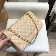 Роскошная дизайнерская женская классическая сумка из овечьей