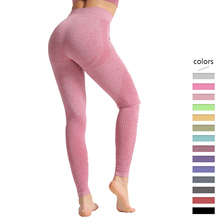 Fitness Seamless Leggings Women High Waist Tummy Control Pants Dot Pattern Workout Push Up Skinny Trousers Femme