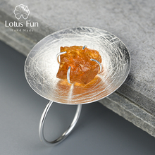 Lotus Vui Thật Nữ Bạc 925 Đá Quý Tự Nhiên Ban Đầu Handmade Mỹ Trang Sức Có Thể Điều Chỉnh Cá Tính Vòng Nhẫn cho Nữ
