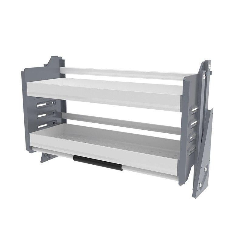 Kitchen Cabinet Pull Basket Multi-functional Side Installation shui cao lan with Damping Kitchen Cabinet Storage Shelf Basket