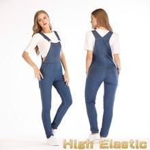 Women jeans  Denim Jumpsuit Loose Rompers Street Wear Pants Ladies Strapsn Overalls Straps Jeans pants