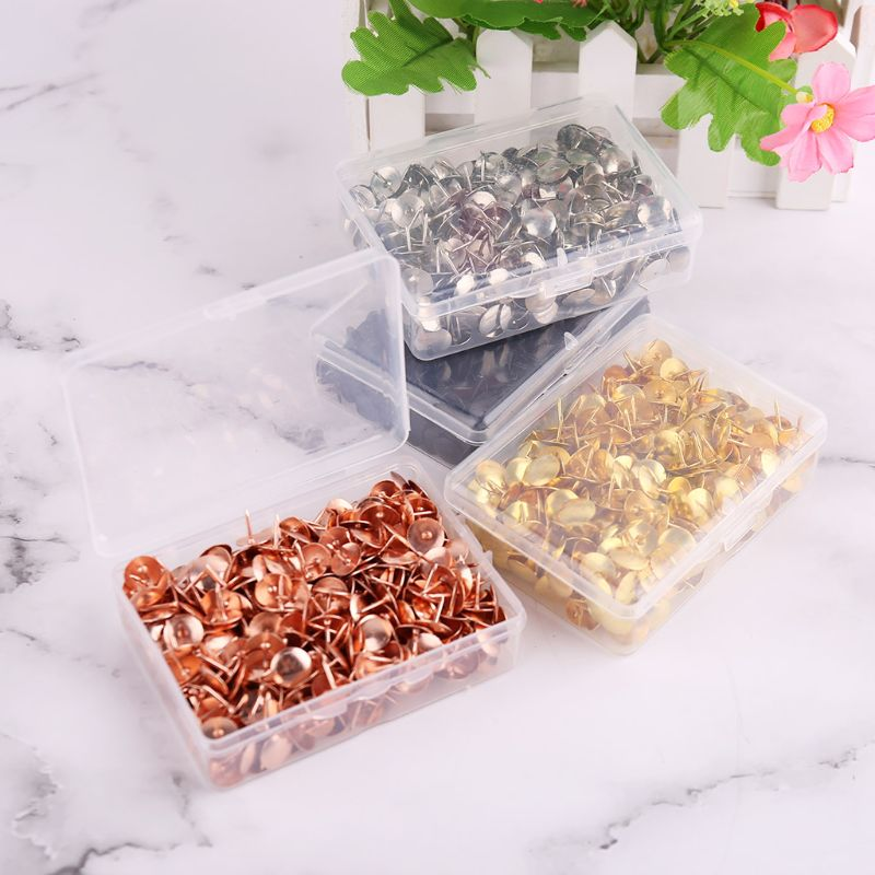 400pcs Metal Thumbtack Drawing Pins Pushpin Cork Board Photo Wall Map Markers