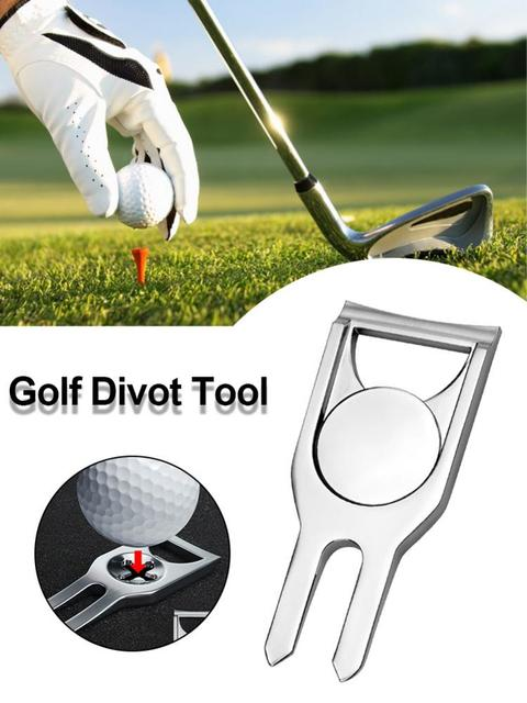 Golf Pitchfork Ball Putting Green Fork bottle opener Ball Pitch Cleaner repair lawn tool for Golf Divot Repair Tool Accessories 3