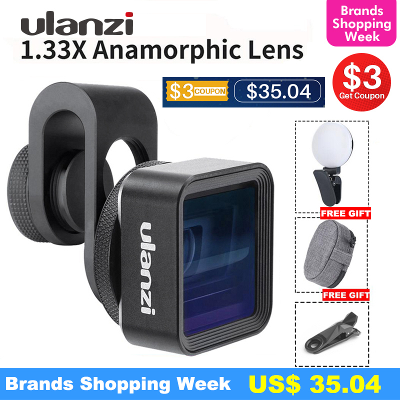 Ulanzi Anamorphic-Lens Video-Widescreen Mobile-Phone For Slr Movie Filmmaker