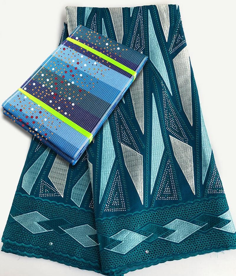 5 metrów szwajcarski woal koronki tkaniny afryki koronki nigerii tkaniny bawełniane tkaniny z 1 PC gwiaździste Aso Oke headtie gele opakowanie sprzedawane razem w Koronka od Dom i ogród na  Grupa 1