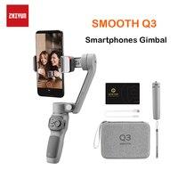 Zhiyun Smooth Q3 smartphone stabilizzatori palmari a 3 assi con giunto cardanico per smartphone iPhone/Samsung/Huawei/Xiaomi/Action Camera