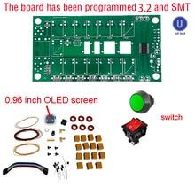 Atu100 1.8 50mhz kits atu100mini sintonizador automático de antena por n7ddc 7x7 firmware programado/smt/chip soldado/+ oled