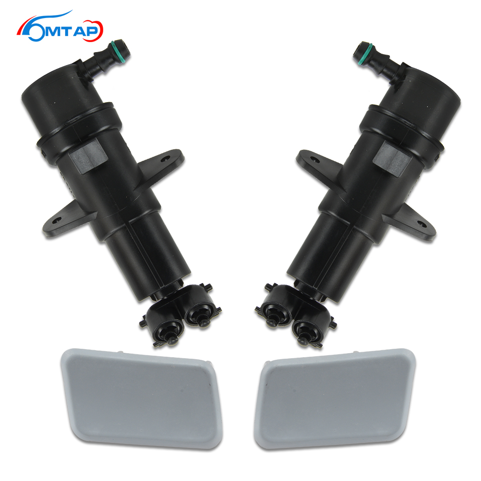 MTAP Head Lamp Washer Nozzle Actuator & Cover For BMW X3 E83 LCI 2006-2010 Front Head Light Water Nozzle Spray Jet / Cap Lid