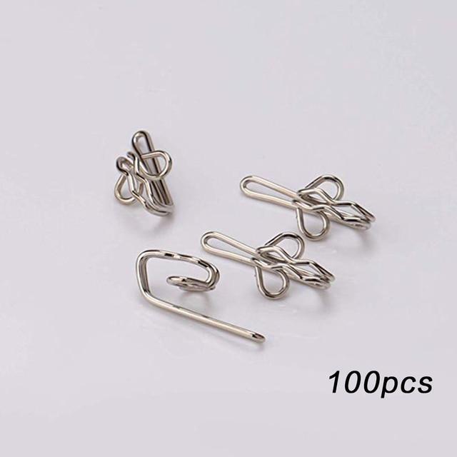 500 x CURTAIN GATHER HOOK 28mm Pencil Pleat Small Gathering Metal BULK Hooks