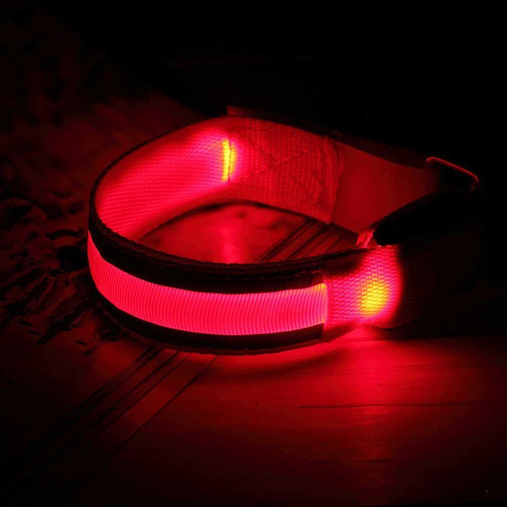 חיצוני ספורט ריצה הלילה Oversleeve LED מנורת בטיחות חגורת זרוע רגליים אזהרה צמיד רכיבה על אופניים מסיבת Luces