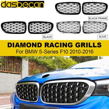 Car Sport Racing Grill Auto Hood Kidney Grilles Front Bumper Grille for BMW 5 Series F10 520i 523i 528i 550i 520d 530d 2009-2017 1pair gloss car front sport grill kidney black grilles front hood kidney grille for bmw 5 series m5 e39 e60 e61 2003 2009
