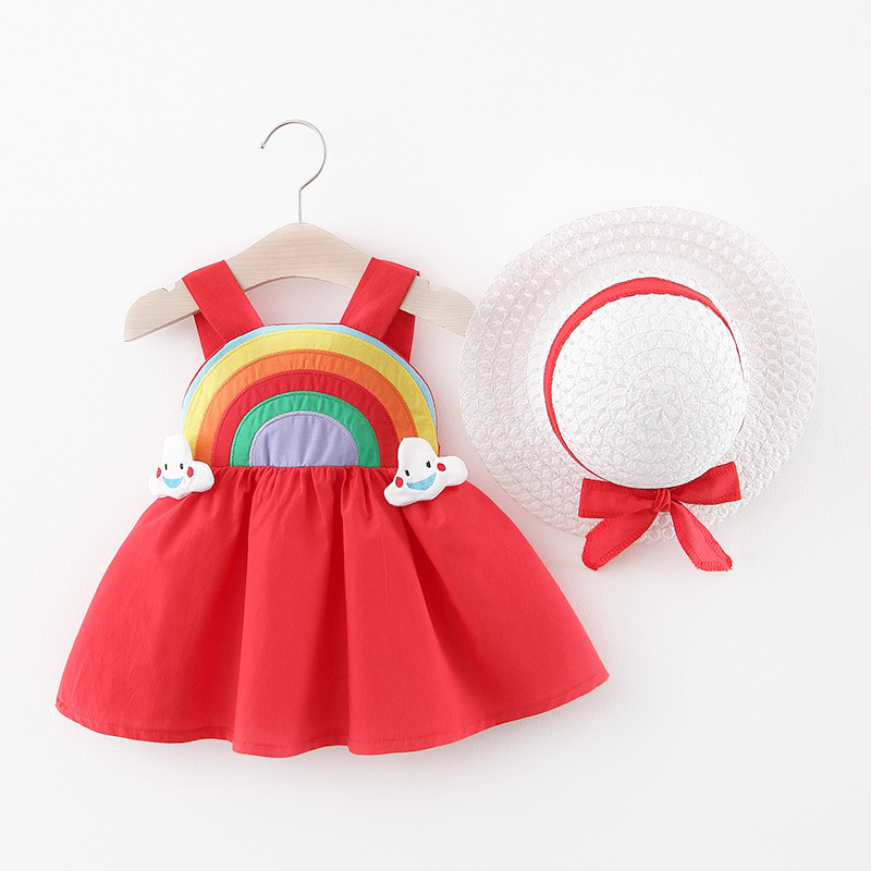 2020 Cute Summer Baby Girl Dress For Newborn Baby Girls Clothes Princess Dresses 1st Birthday Dress With Hat 0-2Y Vestidos