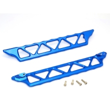 Aluminum Alloy Side Trail Side Skid Plate Pedal Footplate for 1/5 TRAXXAS X-MAXX XMAXX area rc wheel extenders for traxxas x maxx 1 5