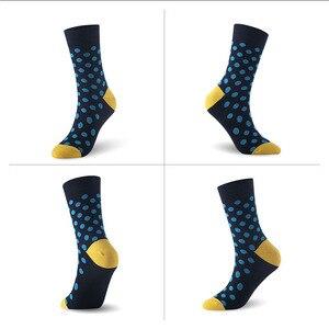 Image 5 - Men socks bamboo fiber dot pattern man socks 6pairs/lot UK SIZE 7 11 EUR SIZE 40 46 1005 VKMONY