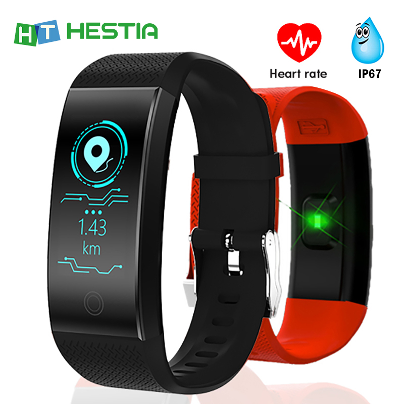Smart Wristband IP68 Waterproof Fitness Bracelet With Blood Pressure Heart Rate Monitor Pedometer Fitness Tracker Sports Innrech Market.com