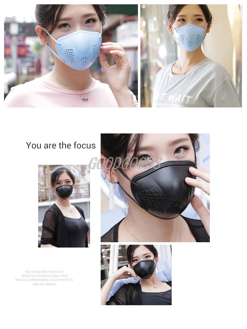 Hffe3dc1772484b5293478fe2a95da513q Silicon Face Mask Dustproof Mask Facial Protective Cover Washable Masks Anti-Dust Bacteria Proof Facemask PM2.5 Pollution