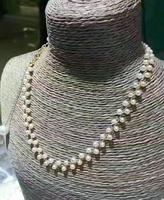 noble jewelry 6 7mm Freshwater white pearl necklace