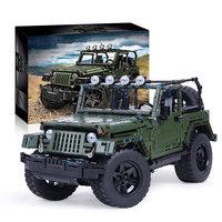 Technic Series Super Sports Car SUV Assembly Wranglers Off road Car MOC Model Building Blocks MOC Kits Kids Toys
