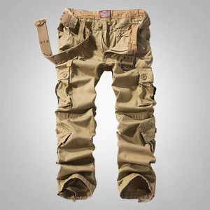 Image 5 - سراويل كبيرة الحجم للرجال والسيدات للربيع والشتاء سراويل واسعة الساق سراويل ركض للرجال ملابس عسكرية مموهة