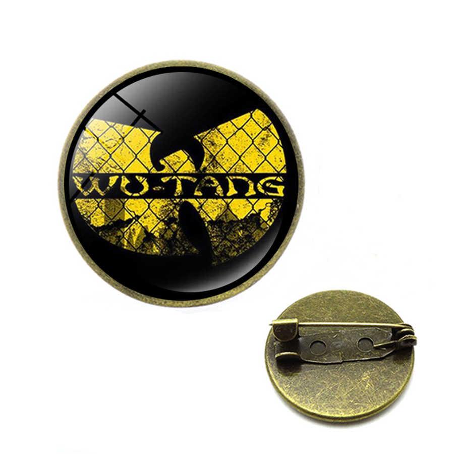 Dropshipping Wu Tang Clan סיכות ספר ישן היפ הופ מגניב צהוב לוגו סיכות וו טאנג סיכות מתנה עבור חובבי מוסיקה תכשיטים
