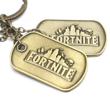 Game Fortnite Kids Rings Necklace Stainless Steel Keychain Anime Figure Fortress Night Gaming Peripheral Accessorie Fanstoys Boy 2