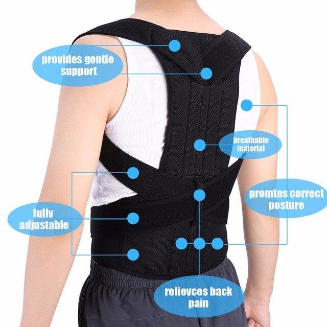 XXXL Posture Corrector Back Support Belt Orthopedic Posture Corset Back Brace Support Back Straightener Adjustable Shoulder Wrap 1