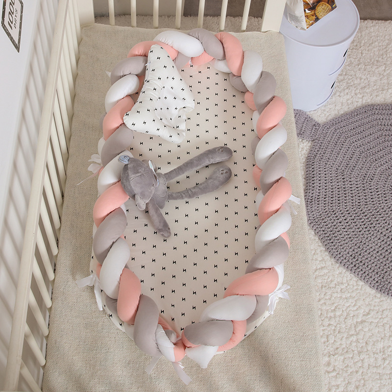 Hand Woven Multi-function Portable Baby Crib Travel Baby Cot Foldable Barrier Baby Bed Baby Supplies