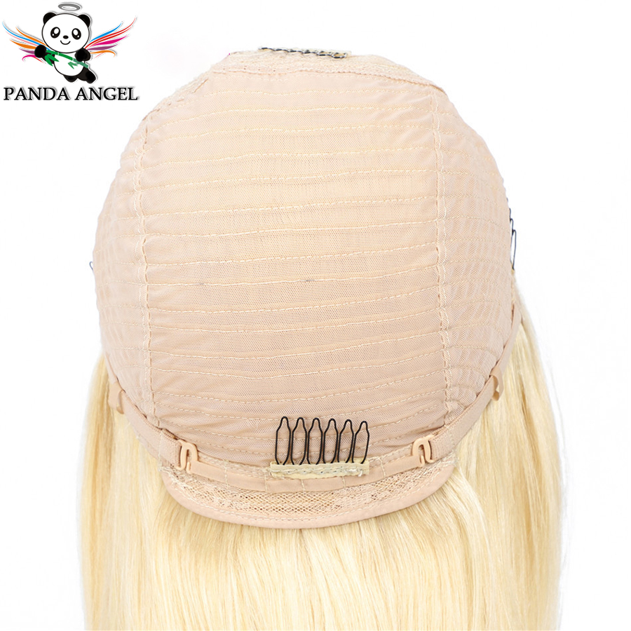 Hffe49db75070494dbe609631ffcc5c6eS Panda 4x4 Honey Blonde Lace Wigs #613 Brazilian Hair Ombre Straight Lace Closure Wig 150% Density Blonde Human Hair Wigs Remy