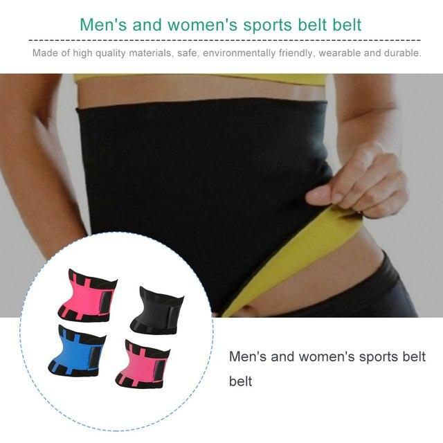Men Women Sport Waist Belt Tummy Slimming Body Shaper Cincher Zipper Waist Cincher Corset Trainer Sweat Waist Cincher Belt 4