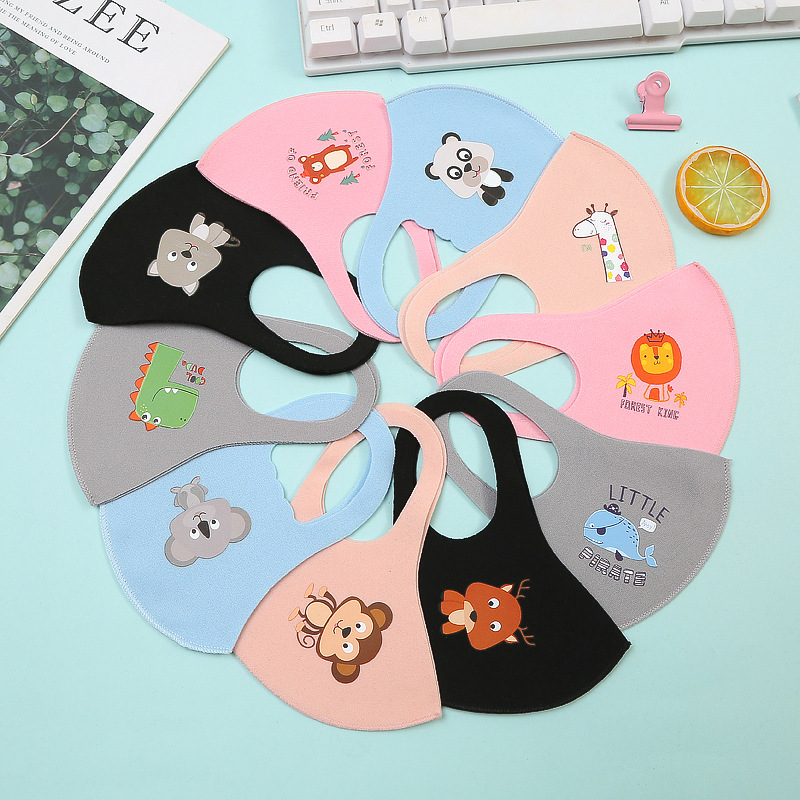 1pc 3D 4-12 Years Anti Dustproof Mask Cartoon Printed Resusable Anti Pollution Mask Kid Face Breathable Masks Filter Mouth Cover