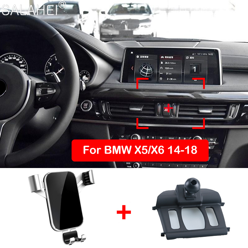 Luxurious Car Mobile Phone Holder For BMW X5 X6 2015 2016 Air Vent Mount Cell Phone Holder Stand Cover For BMW X5 X6 2017 2018