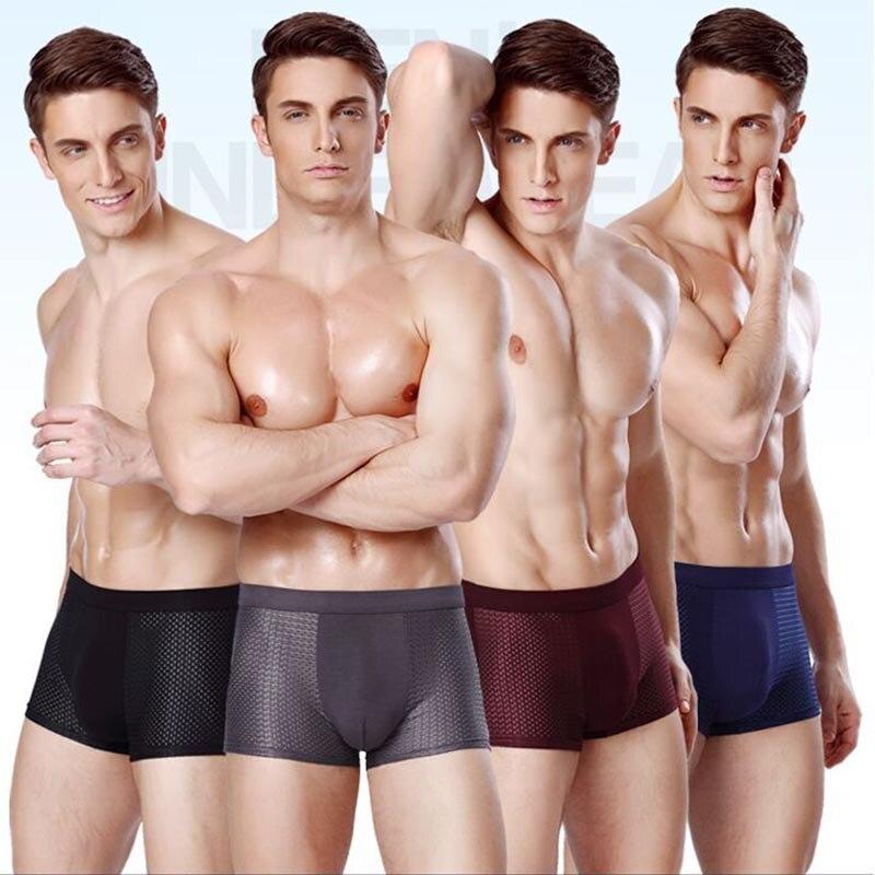 4 Pcs Mens Underwear Boxers Men Boxer Short U Convex Pouch Panties Man Boxeur Homme Underpants Calzoncillos Bamboo Fiber Shorts