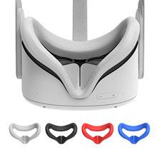 Máscara de olho capa para oculus quest 2 vr óculos de silicone anti-suor anti-vazamento de luz de bloqueio de olho capa oculus quest 2 acessório
