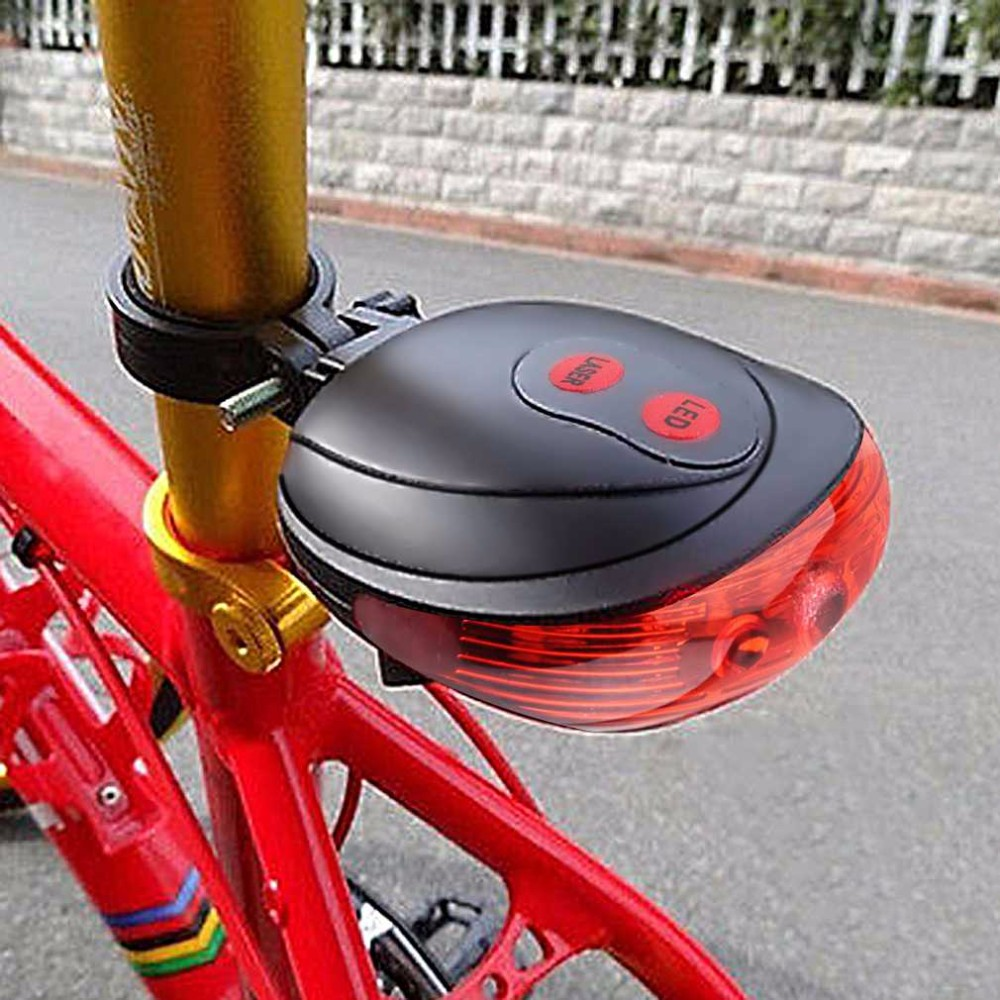5 LED Bike Bicycle Safety Warning Tail Rear Lamp Flash Light Cycling Bright KY