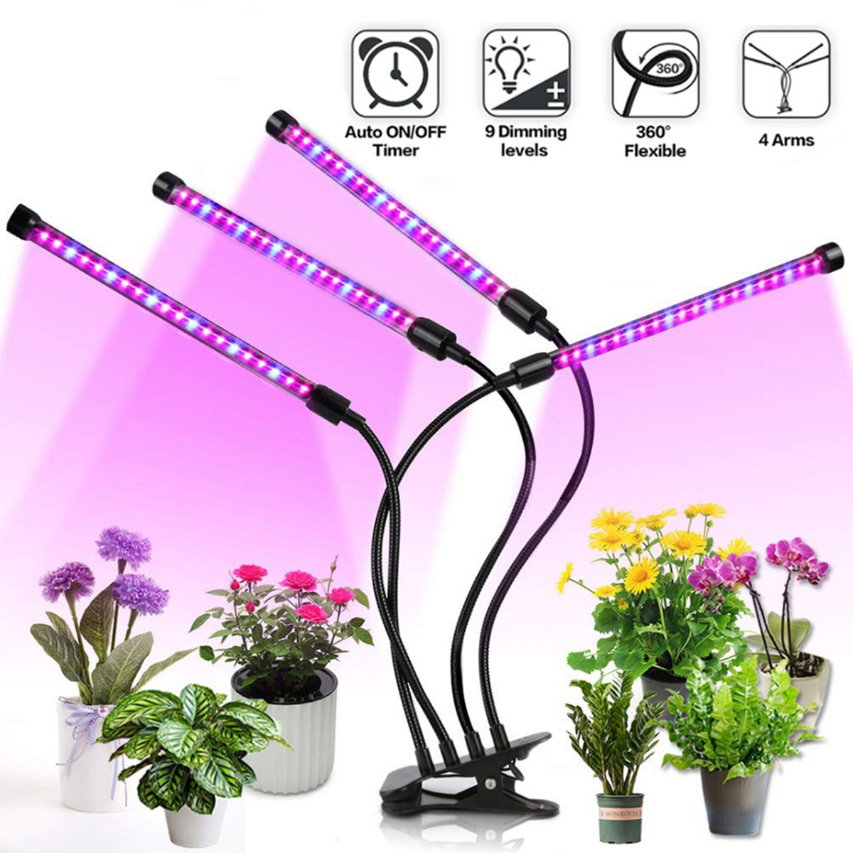 Led Grow Light 9W 18W 27W Timer Phyto Lamp Plants Full Spectrum Grow Lamp USB 10Dimmable For Indoor Plant Seedlings Led