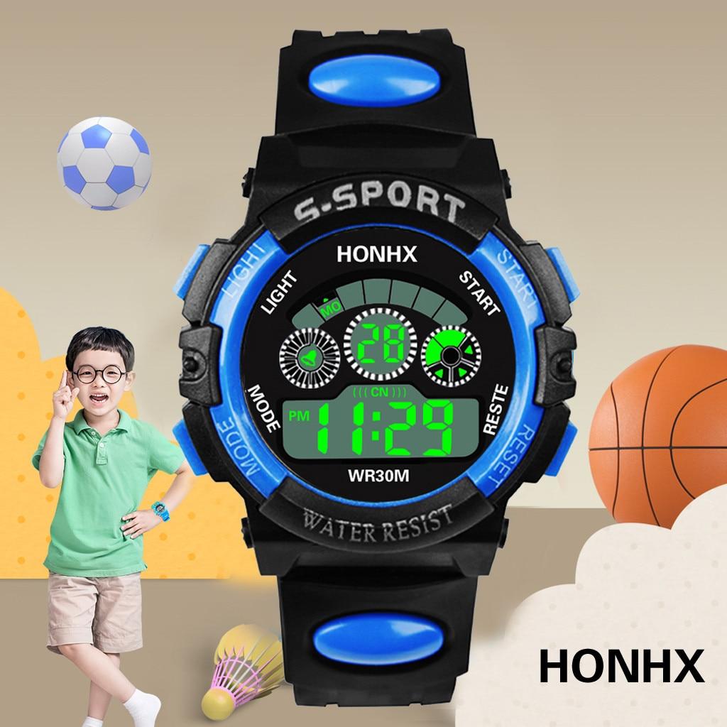 Children Watch LED Electronic Watch Luxury Men Analog Digital Military Sport Waterproof Luminous Wrist Watch Bracelet Watch YE1