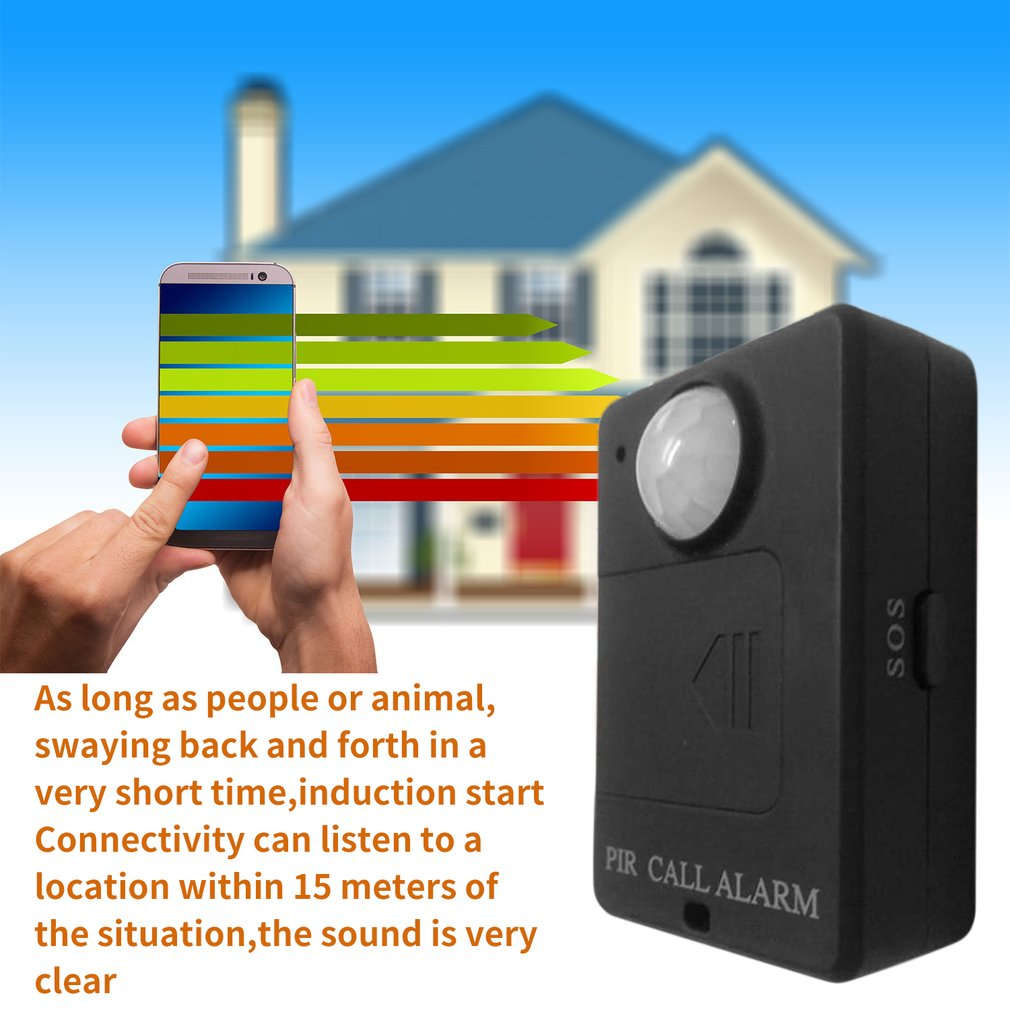 Mini GSM PIR Alarm Motion Sensor Alarm Infrared Wireless GSM Alarm Anti Theft Motion Detector High Sensitivity