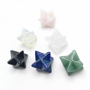 Оптовая продажа, Меркаба звезда, Хрустальный натуральный камень для украшений «сделай сам», медитация, чакра Священная рейки, восстанавливающее энергетическое защитное украшение