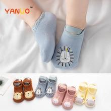 Foot-Socks Printing Non-Slip Newborn-Baby Girls Winter Boys 0-3-Years Cotton Cartoons