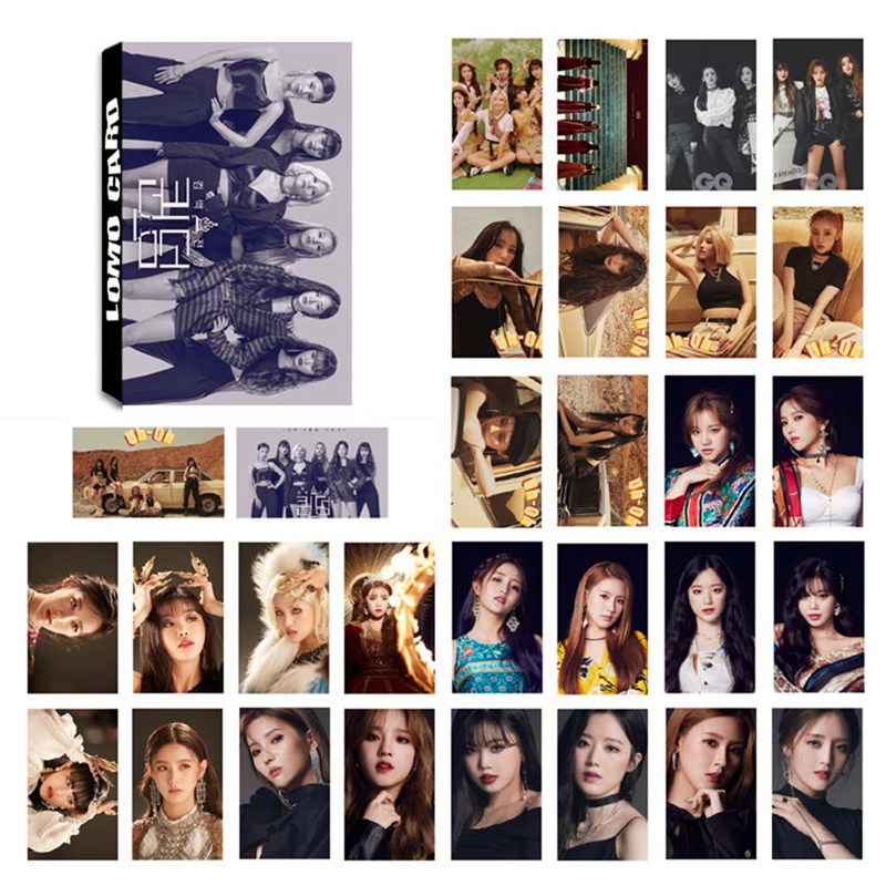 30Pcs/Set GIDLE Photocard Photo Card LOMO Card Pictures Postcard Stationery Decoration Supplies Fan Gifts