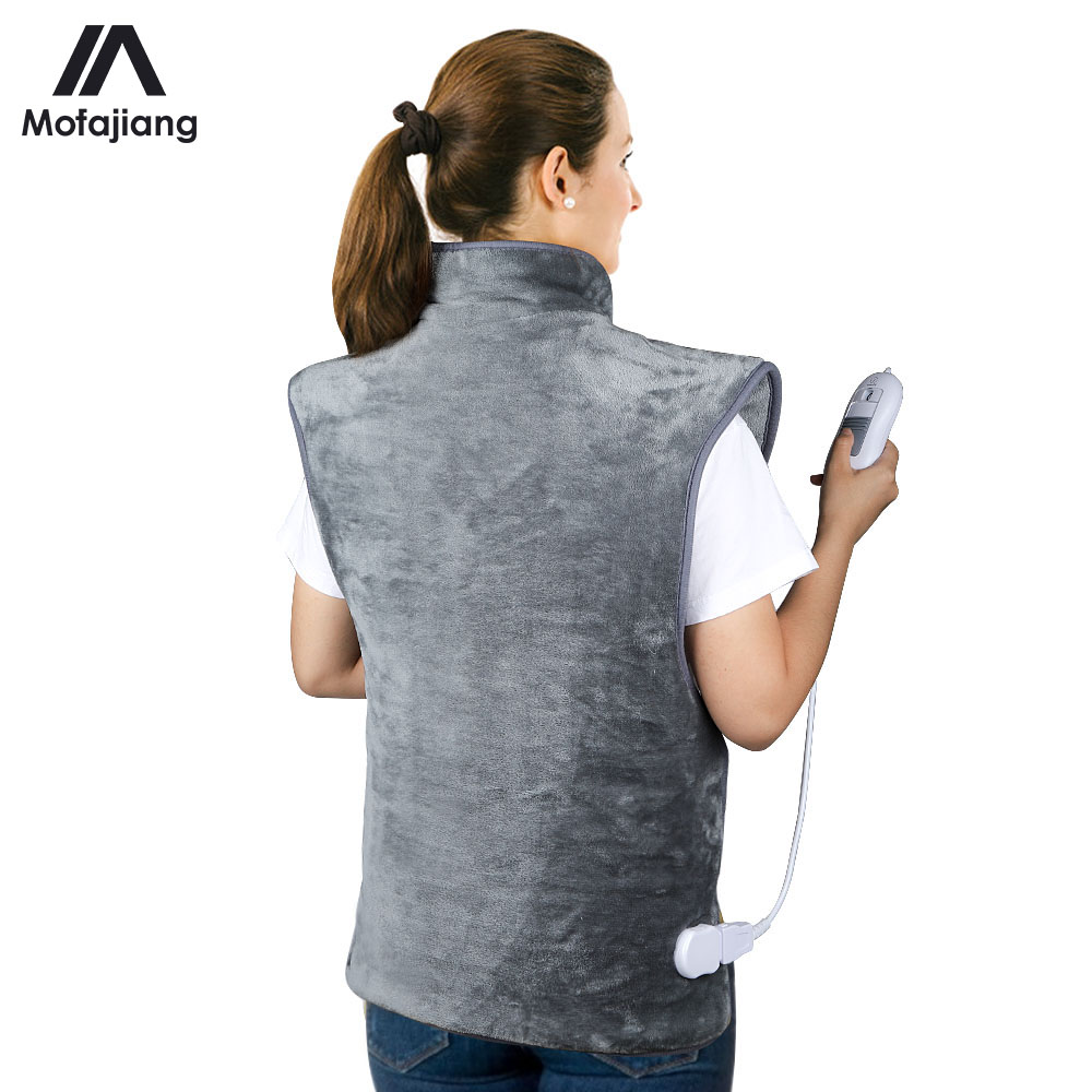 Electric Heating Shawl Pad Neck Back Warmer Heat Wrap Adjustable Temperature Washable Heating Blanket Physiotherapy Pad
