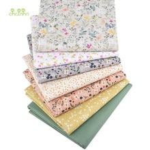 Chainho, çiçek serisi, baskılı dimi pamuklu kumaş, patchwork elbise DIY dikiş kapitone bebek ve çocuk yatak örtüsü malzemesi