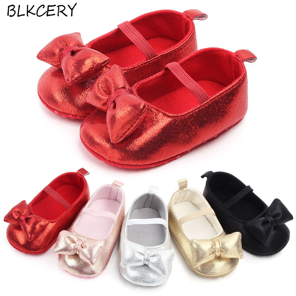 New Baby Girls Crib Shoes Newborn First Steps Slippers Toddler Bow Loafers Infant Tenis for 1 Year Old Footwear Doll Shoe Gift
