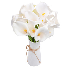 5pcs artificial calla lilies Home Flower Decoration Foam Real Touch calla lilies handmade fake flower bouquet wedding acessories pu real touch artificial calla flower bonsai