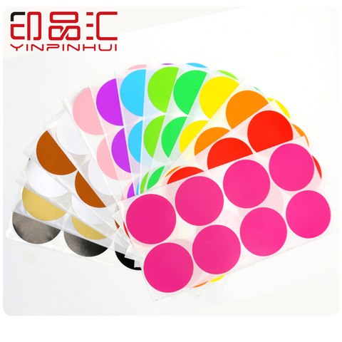 50mm gravavel diy adesivos multicolorido adesivo caixa labers caixa pontos nota