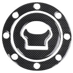 New Cover Sticker Carbon Fuel / Gas Cap Cover Pad Sticker for SUZUKI GSXR 600 750 1300 SV 1000 GSFT 1200 Bandit Black